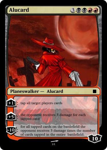 magic card alucard hellsing by Ryaxx