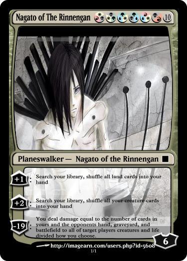 Nagato of the Rinnengan MTG by Ryaxx