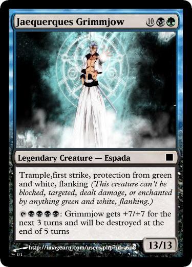 Grimmjow Magic The Gathering by Ryaxx