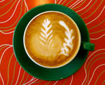 Latte art, 2 leaves