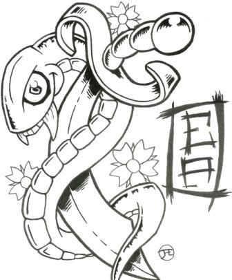 Snake And Dagger By Jodis On DeviantArt