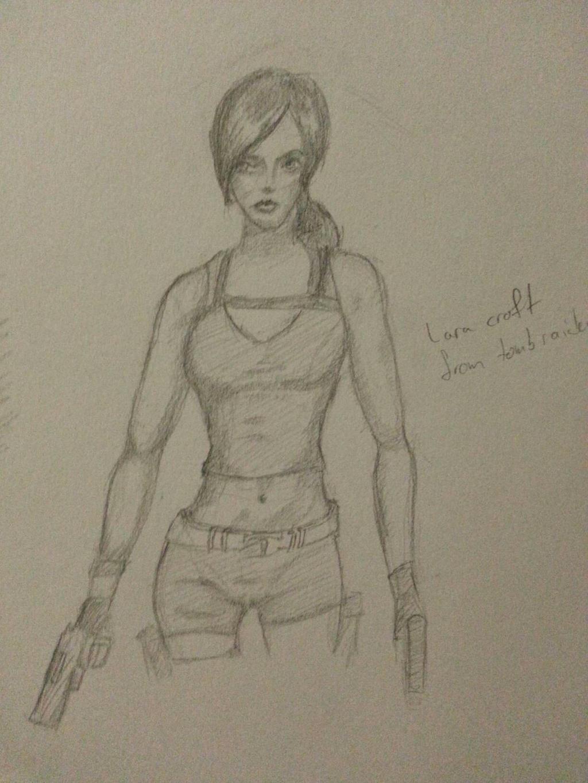 lara croft study by WhiteWolf737