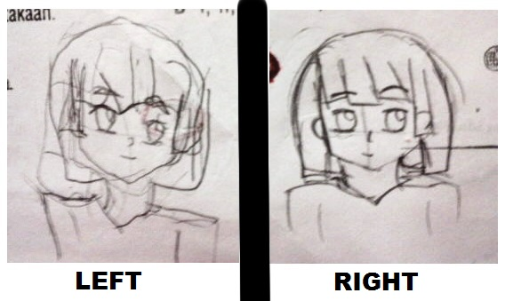 Left and Right challenge by heta-chan