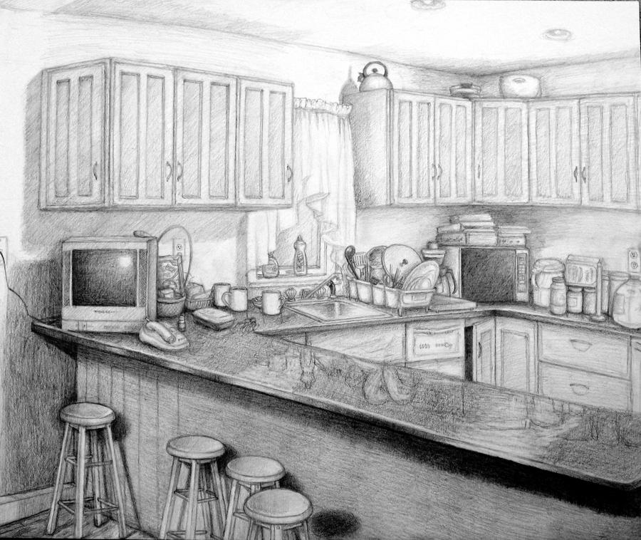 Kitchen Sink Drawing: And The Kitchen Sink By Commoner-pocky On DeviantArt