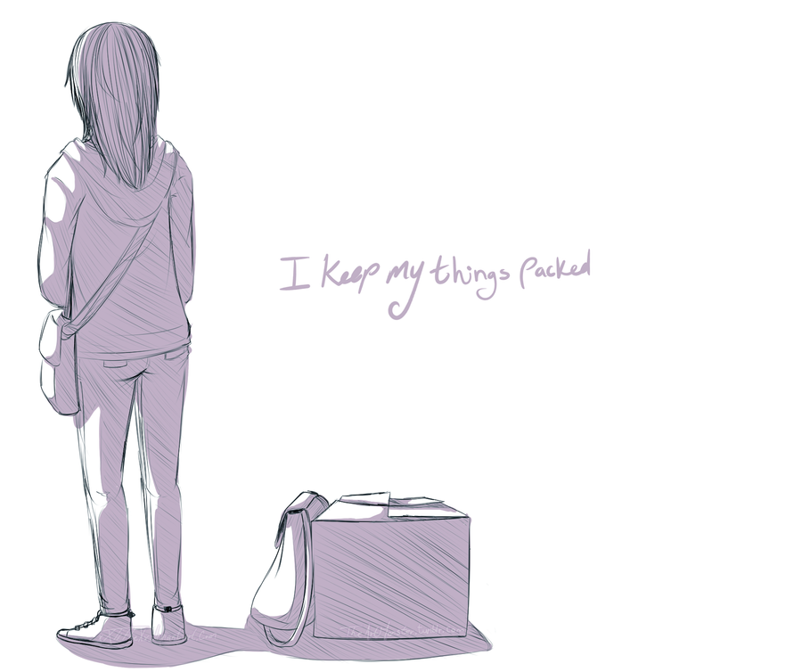 I keep my things packed. by Art-M0nster