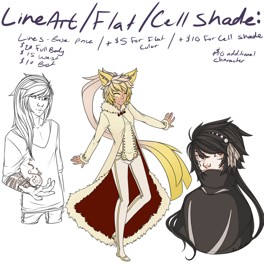 Lines flat cell shade by Art-M0nster