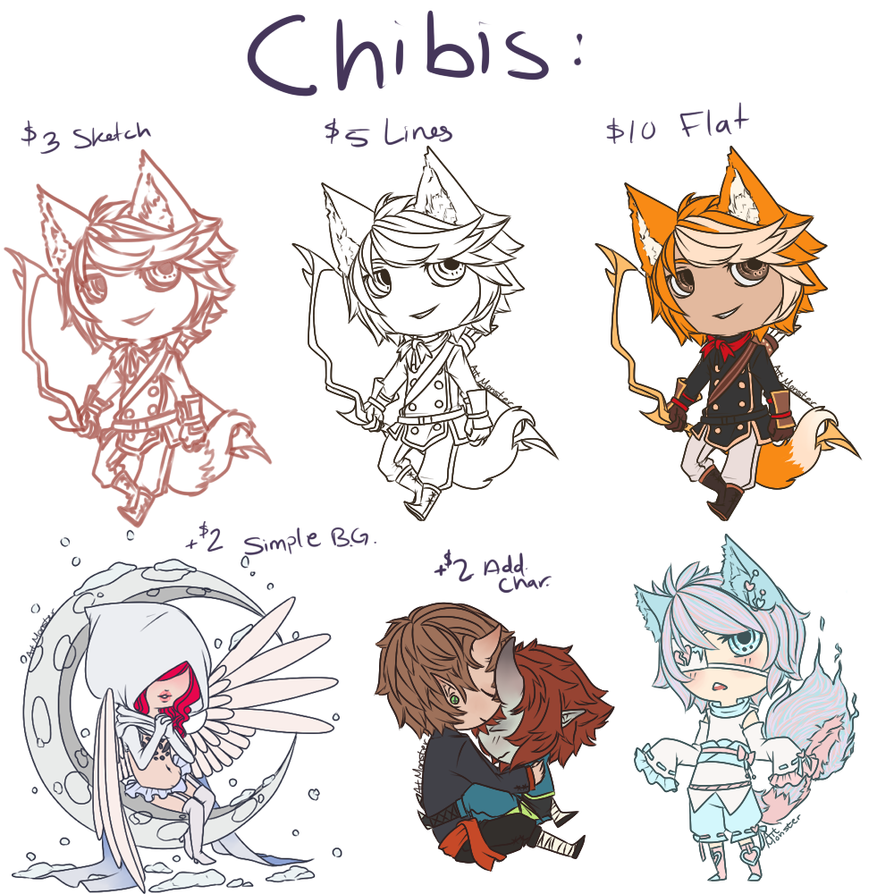 Chibis by Art-M0nster