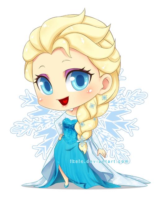 Chibi Elsa by Iksia on DeviantArt