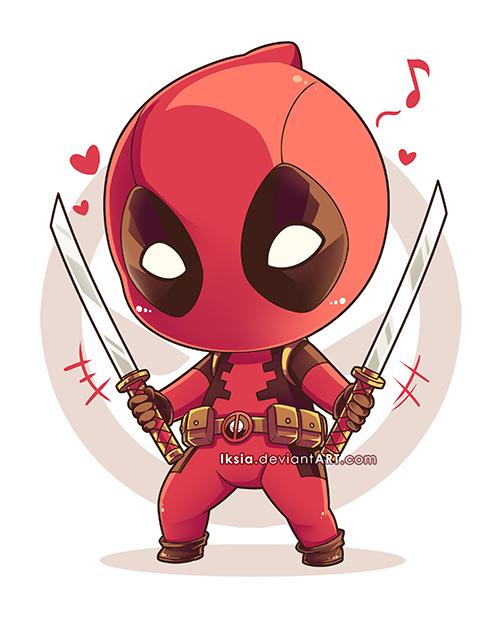 Chibi Deadpool by Iksi...