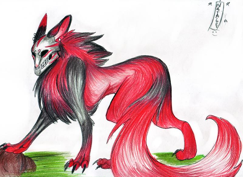 Demon wolf by PsychoNinjaNatalie on DeviantArt - photo#28