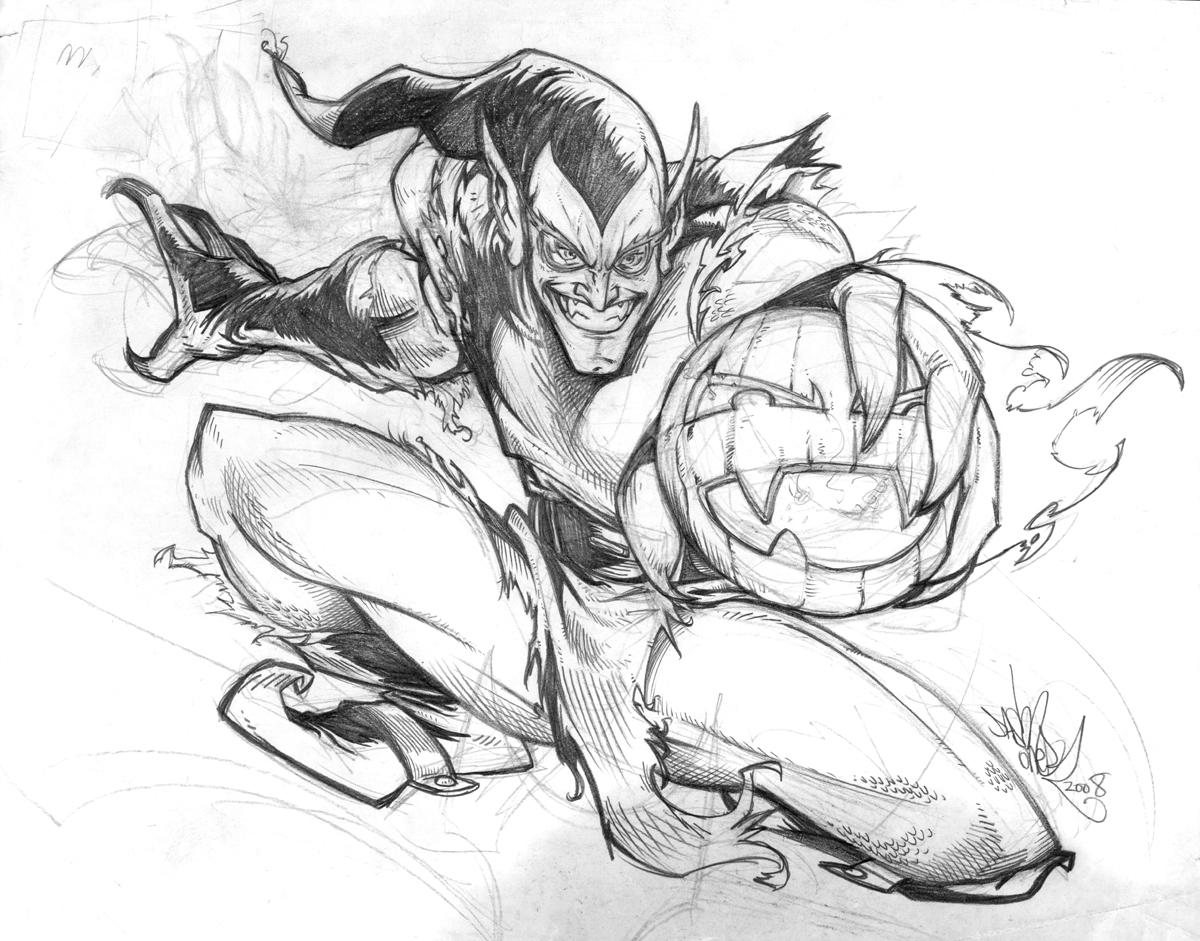Dibujos Para Colorear Spiderman Vs Duende Verde - Get Yasabe