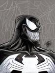 Venom 9x12 on toned paper