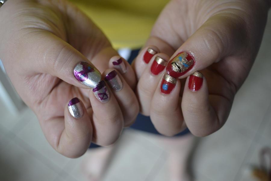 Iron Man x Hawkeye nails by SlicedKiwi on DeviantArt