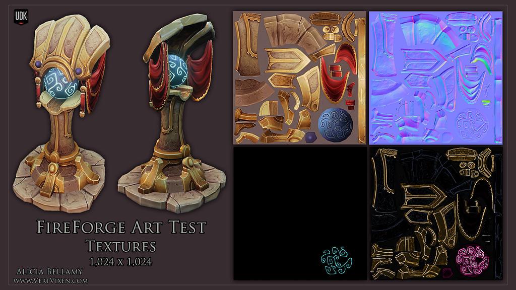 Fireforge Art Test Textures by Vert-Vixen