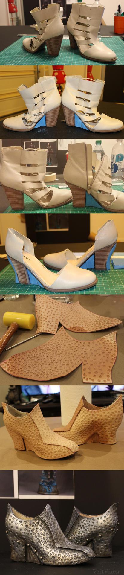 Shard- A Mortal Trespasser : Shoes Progress by Vert-Vixen
