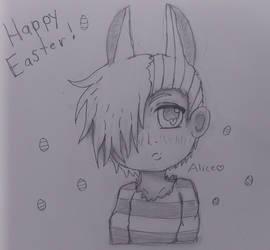 Easter bunny Alice Yabusame by Buritta-Kitty-Neko