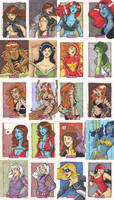 Women of Marvel Cards pt.4 by katiecandraw