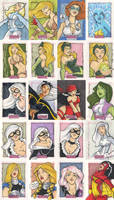 Women of Marvel Cards pt.6 by katiecandraw