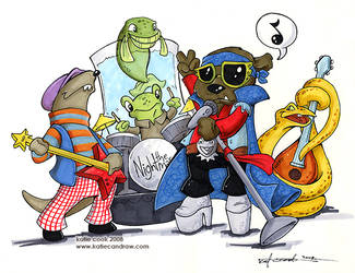 River Bottom Nightmare Band by katiecandraw