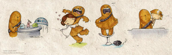 wookiee doodles by katiecandraw