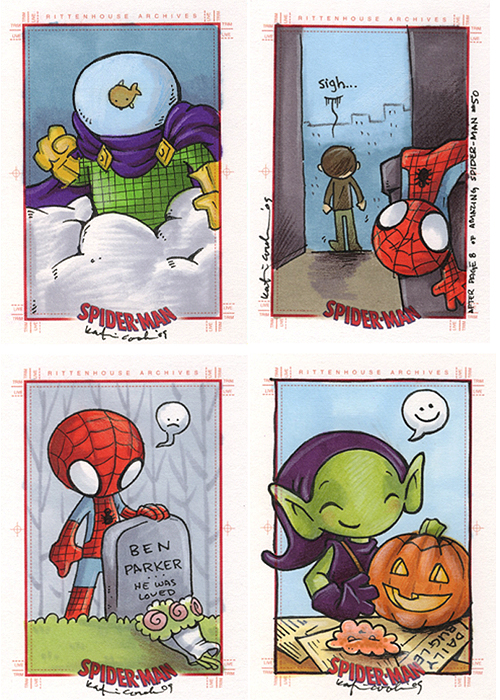 spider-man sample cards by katiecandraw