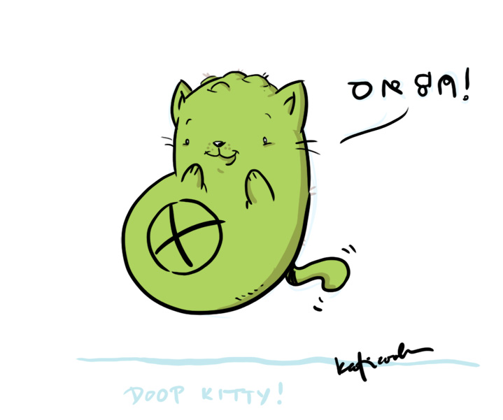 DOOP kitty by katiecandraw