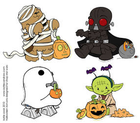 star wars halloween iron-ons by katiecandraw