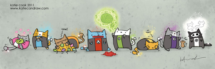 cat lantern corps by katiecandraw