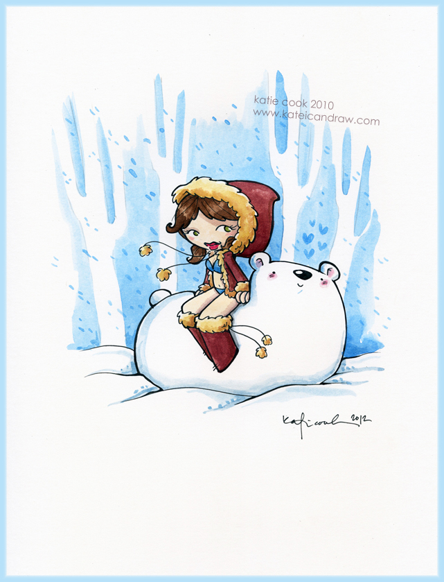 winter pinup by katiecandraw