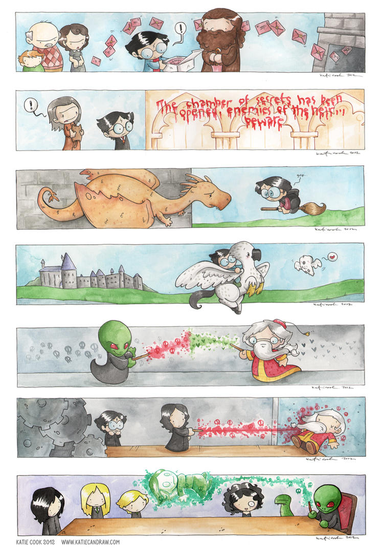 more harry potter scenes by katiecandraw