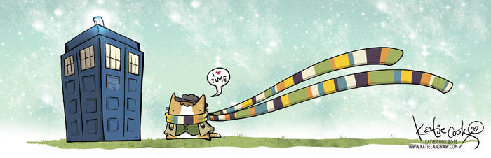 dr who cat by katiecandraw