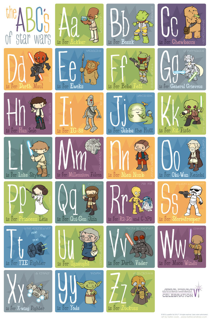 star wars alphabet by katiecandraw