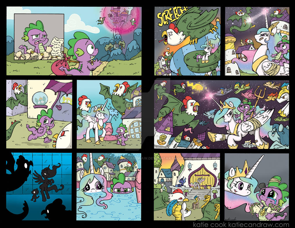 My Little Pony FiM Comic 2 page story from issue 4 by katiecandraw