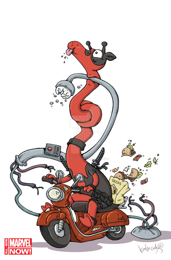 Deadpool-24.NOW-Katie-Cook-Animal-Variant by katiecandraw