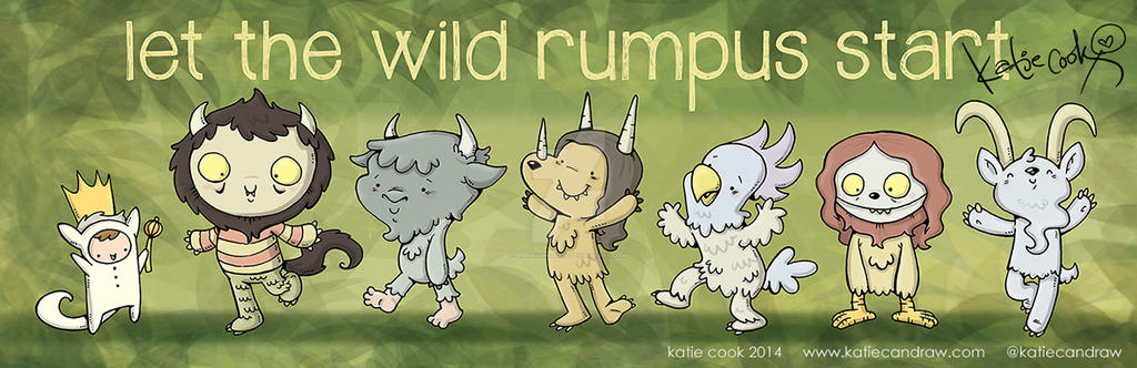 let the wild rumpus start by katiecandraw