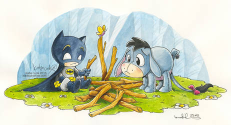 Batman and Eeyore by katiecandraw