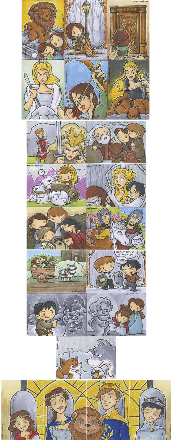 21 Chronicles of Narnia cards by katiecandraw
