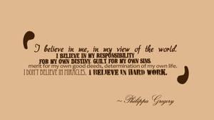 I believe in me.