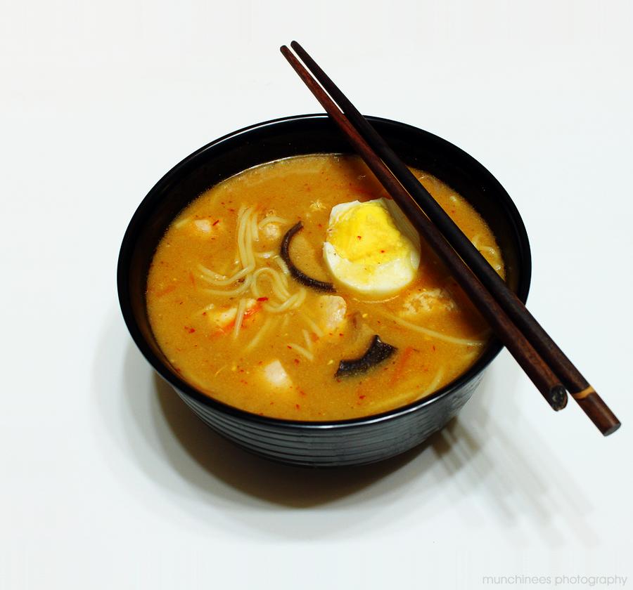 Spicy Chicken Ramen 1 by munchinees