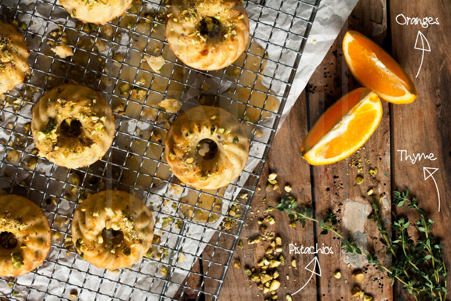 Orange Thyme and Pistachio Cake by munchinees