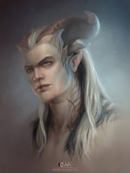 Dragon Age fan-art: qunari OC by DAR-dEvil
