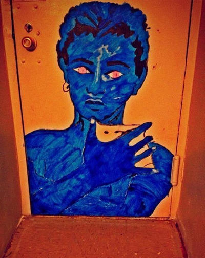 blu man  by colourzdinero