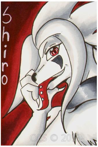 Shiro - ACEO - BetaTestedRobot by michaelmas