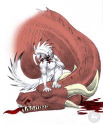 Dragon Slayer - SabretoothedErmine by michaelmas