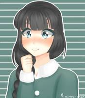 [ Redraw ] Cute yandere by miminaa-chan
