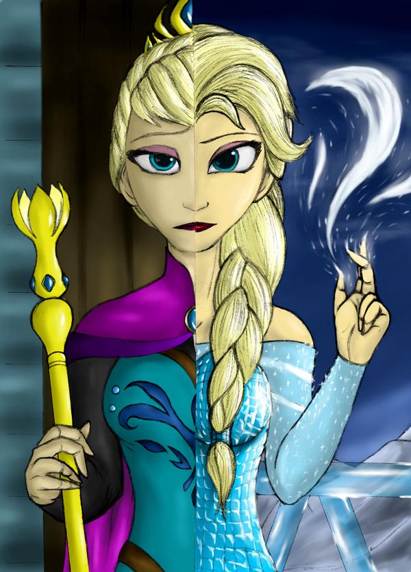 Frozen - Elsa of Arendelle - Double Face by Lel0uch on DeviantArt
