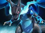 Mega Charizard X by Sylfeanne