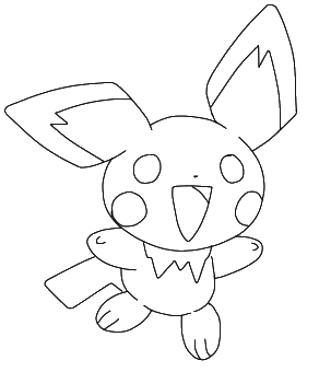 Pichu lineart by vikytogefan on deviantart for Pichu coloring pages