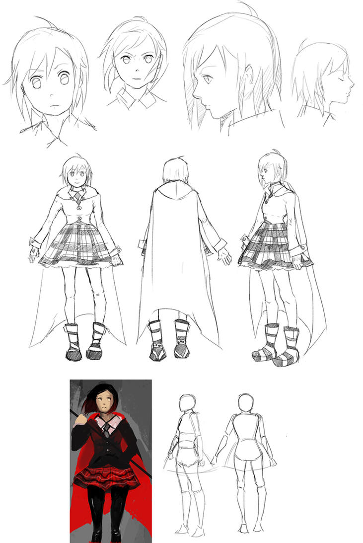 Rwby Character Design Contest : Rwby ruby character sheet by nomty on deviantart