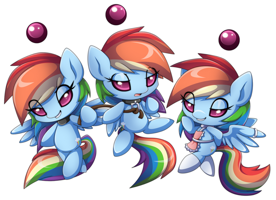 More Rainbow Dash chao by Extra-Fenix